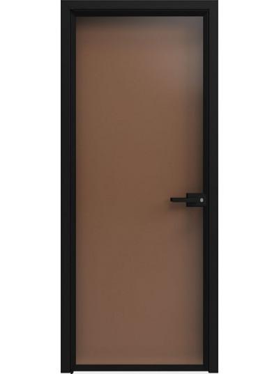 Стеклянная дверь Sofia Scala Бронза Прозрачная (T04) Черный