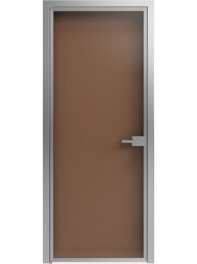 Стеклянная дверь Sofia Scala Бронза Прозрачная (T04) Серебро