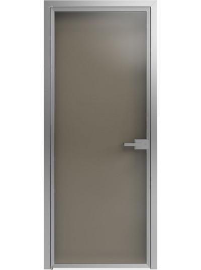 Стеклянная дверь Sofia Scala Бронза зеркальная (T10) Серебро