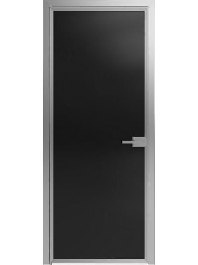 Стеклянная дверь Sofia Scala Чёрное (T05) Серебро