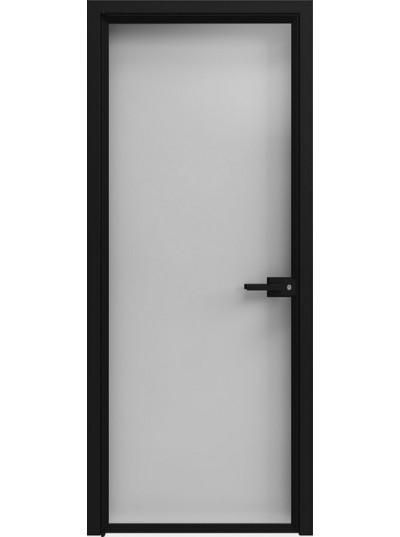 Стеклянная дверь Sofia Scala Глянцевый белый (T14) Черный