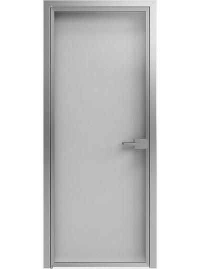 Стеклянная дверь Sofia Scala Глянцевый белый (T14) Серебро