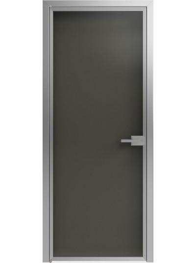 Стеклянная дверь Sofia Scala Глянцевый черный (T18) Серебро
