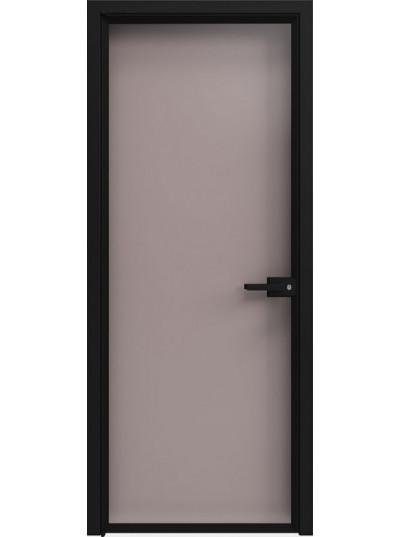 Стеклянная дверь Sofia Scala Глянцевый серый (T20) Черный