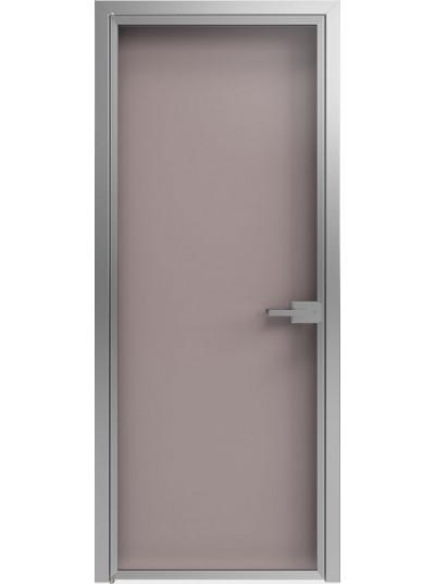Стеклянная дверь Sofia Scala Глянцевый серый (T20) Серебро