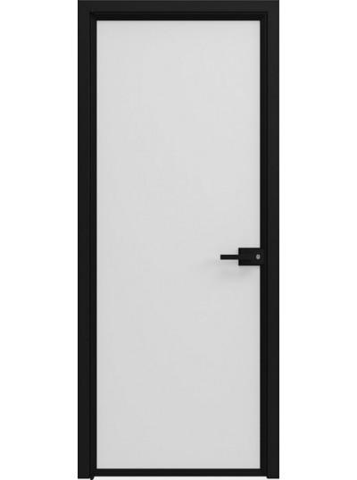 Стеклянная дверь Sofia Scala Матовый белый (T15) Черный