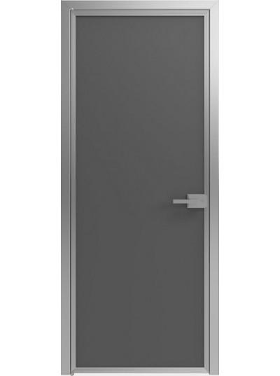 Стеклянная дверь Sofia Scala Матовый черный (T19) Серебро