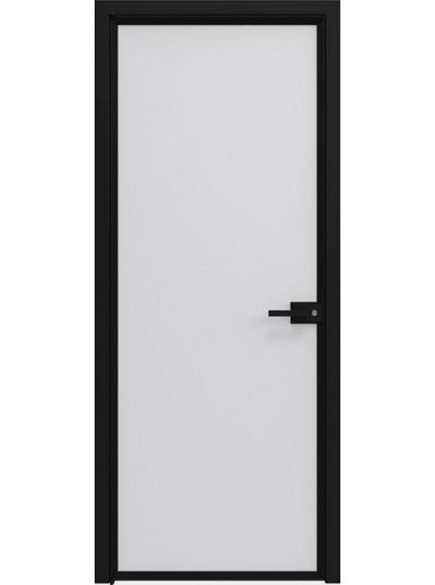Стеклянная дверь Sofia Scala Матовый лед (T17) Черный
