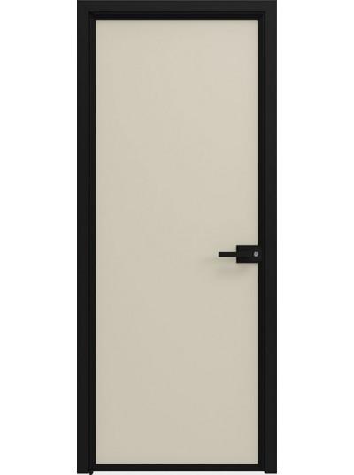 Стеклянная дверь Sofia Scala Матовый песочный (Т23) Черный
