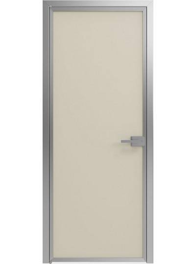 Стеклянная дверь Sofia Scala Матовый песочный (Т23) Серебро