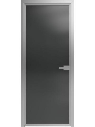 Стеклянная дверь Sofia Scala Прозрачный черный (T13) Серебро