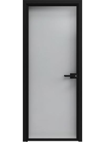 Стеклянная дверь Sofia Scala Прозрачный зеркальный (T07) Черный