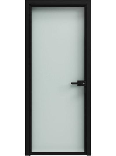 Стеклянная дверь Sofia Scala Прозрачное (T01) Черный