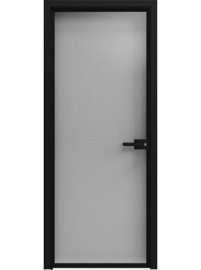 Стеклянная дверь Sofia Scala Серебро Темное (T12) Черный